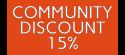 Community Discount 15%