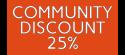 Community Discount 25%