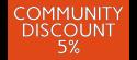 Community Discount 5%